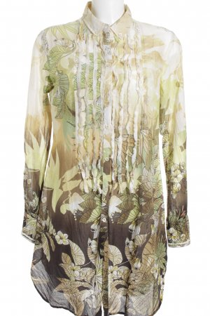 Henry Cotton's Long-Bluse abstraktes Muster Boho-Look