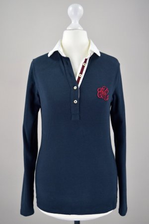 Henry Cotton´s Poloshirt langärmlig blau Größe XS