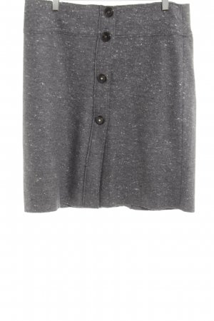 Henry Cotton's Wool Skirt light grey flecked casual look