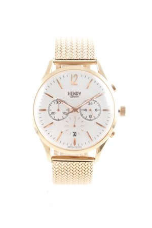 Henry London Watch With Metal Strap rose-gold-coloured
