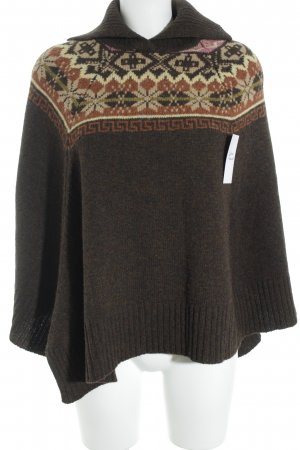 HENRY WHITE IRELAND Poncho Aztec pattern casual look