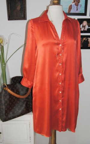 0039 Italy Robe chemise rouge clair