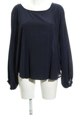 her Shirt Langarm-Bluse dunkelblau schlichter Stil