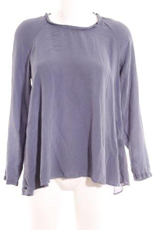 her Shirt Seidenbluse stahlblau Elegant