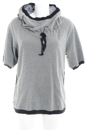 herb Capuchon sweater grijs gestippeld casual uitstraling
