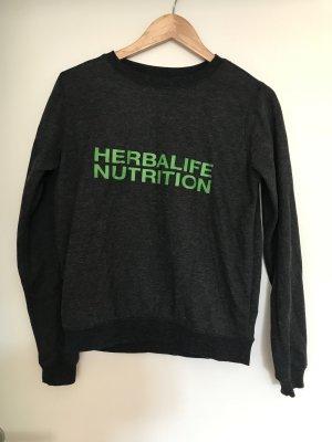 Jersey de cuello redondo gris antracita-verde neón