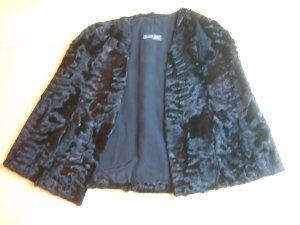 Unger Pelt Jacket black-black brown pelt