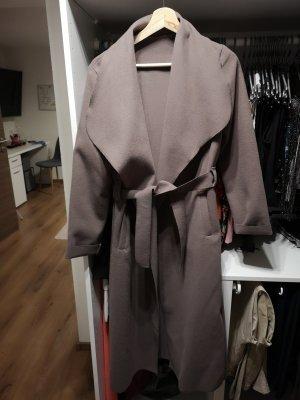 Abito cappotto marrone-grigio