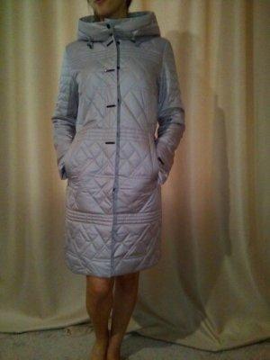 Veste longue argenté polyester