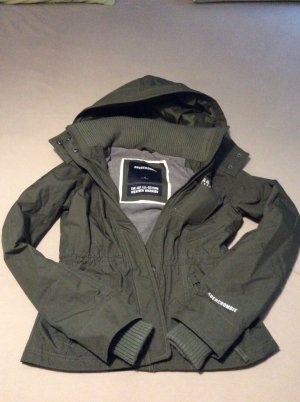 Abercrombie & Fitch Veste courte gris anthracite polyester