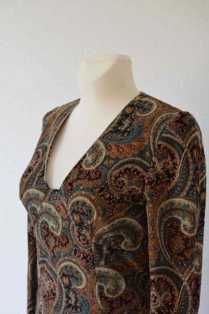 Herbst Kleid mit Paisley Muster