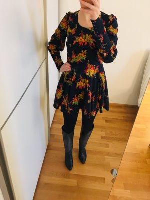 Herbst Kleid - Vintage long sleeve flower dress