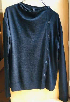 separation shoes 320f0 f12fd Herbst_News grauer Wollpullover mit asymmetrischer Knopfleiste