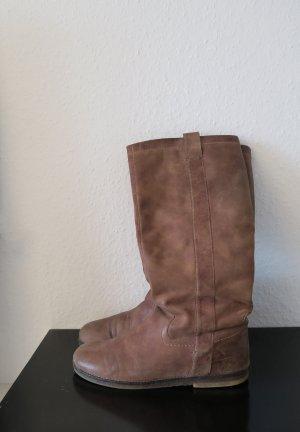 Mark Adam Botas slouch marrón-marrón claro Cuero