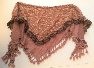 Herbst-Schal, rosé, Dreiecksform