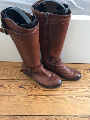 Tamaris Botas estilo militar marrón-coñac
