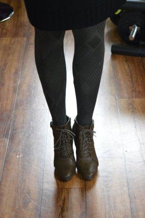 Botas con cremallera marrón