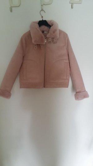 Herbst-Winter gefütterte Jacke (pink/rosa)