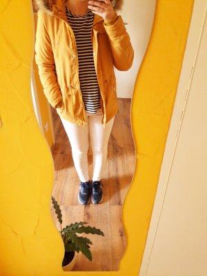 Herbst Winter Parka Jacke senf gelb Gr. XS