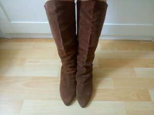 100% Fashion Winter Boots brown suede