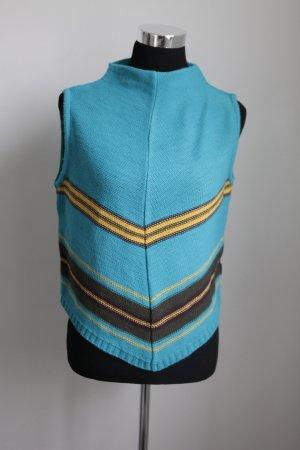 Pullunder blau mit Streifen