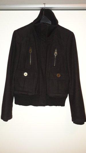 Zara Basic Veste d'hiver brun foncé