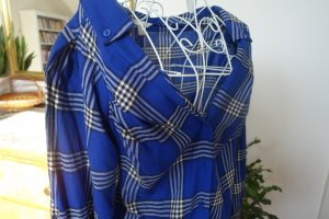 Checked Blouse blue cotton
