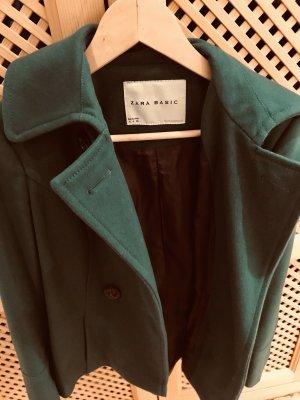 Zara Chaqueta de lana verde bosque-verde oscuro