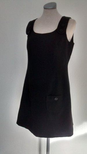 Herbstkleid Kleid schwarz Gr. UK 12 EUR 40 M L New Look retro
