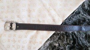 Calvin Klein Jeans Cintura di pelle oro-marrone scuro Pelle