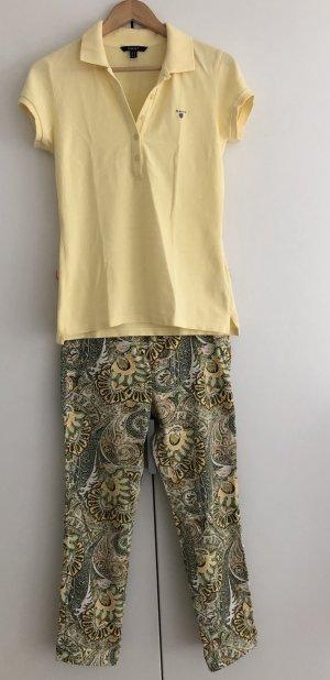 Herbstlich grüne Skinny Hose mit Paisley Muster von ZARA