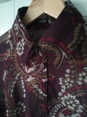 Herbstliche Bluse von Esprit in bordeaux mit floralem Print - 38