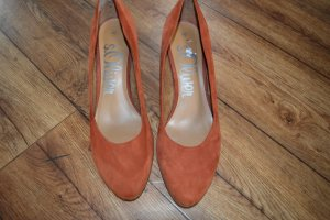 Herbstliche schöne s.Oliver Pumps Gr. 40 so Dunkel-Orange