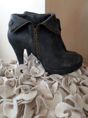 Platform Booties dark grey-anthracite