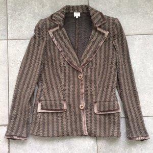 Armani Collezioni Tweed blazer zwart-grijs-bruin Wol