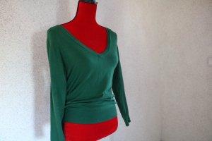 Zara Jersey con cuello de pico verde bosque