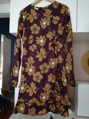 Motel Midi Dress brown violet viscose