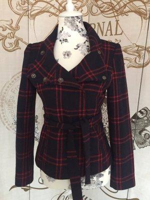 H&M Short Coat black-carmine