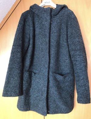 Only Abrigo con capucha gris antracita
