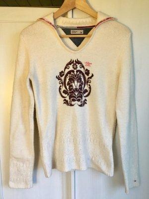 Tommy Hilfiger Denim Pullover Sweater Strickpulli Wolle Angora creme S V-Ausschnitt