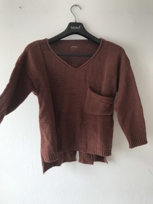 SheIn Coarse Knitted Sweater russet