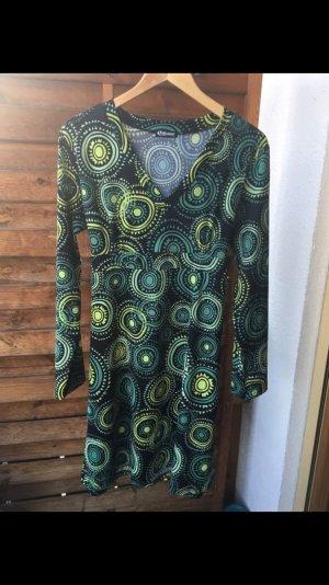Herbstskleid schwarz grün