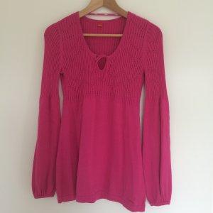 Herbsttrend Beerentöne /Pink Pullover Pulli Langarm Empire Stil