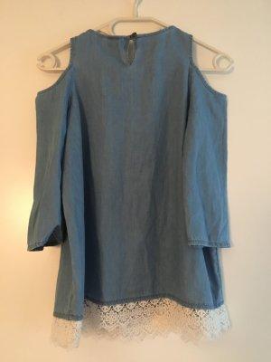 C&A Jeans blouse azuur-wolwit