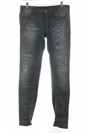 Heritage Stretch Jeans anthrazit-grau Farbverlauf Street-Fashion-Look