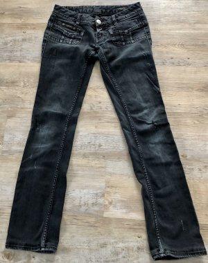 Herrlicher Low Rise Jeans black-dark grey cotton