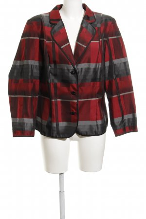 Hermann Lange Boyfriend Blazer dark red-grey abstract pattern extravagant style
