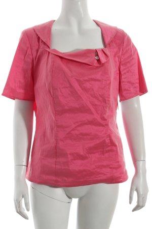 Hermann Lange Kurzarm-Bluse pink Romantik-Look
