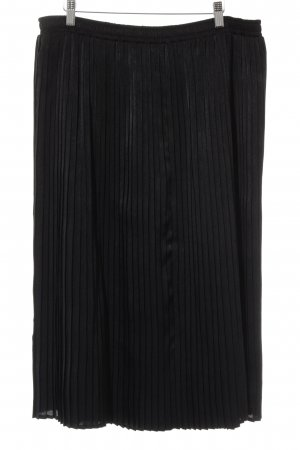 Hermann Lange Pleated Skirt black casual look