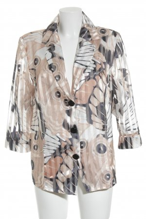 Hermann Lange Transparante blouse abstract patroon extravagante stijl